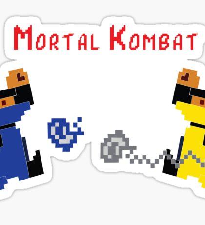 Retro Mortal Kombat Sticker
