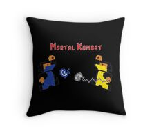 Retro Mortal Kombat Throw Pillow