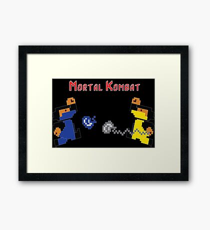 Retro Mortal Kombat Framed Print