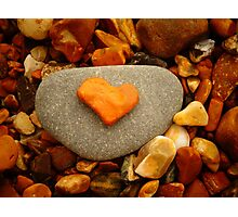 Heart Shaped Rock Photographic Print