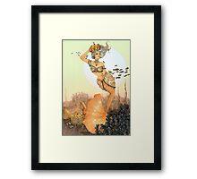 The queen mermaid Framed Print