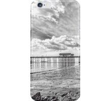 Penarth Pier Morning Light 2 Mono iPhone Case/Skin