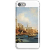 Niels Simonsen, DANISH, THE PORT OF ALGIERS, WITH THE JAMAA AL-JDID AND JEMAA KEBIR MOSQUES iPhone Case/Skin