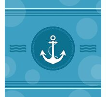 Trendy Nautical Stripe Design Photographic Print