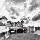Penarth Pier Morning Light 3 Mono by Steve Purnell