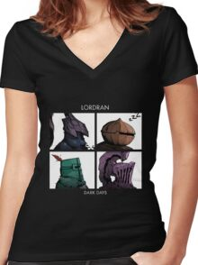 Lordran All characters Women's Fitted V-Neck T-Shirt