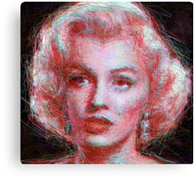 ScribbleMarilyn Canvas Print