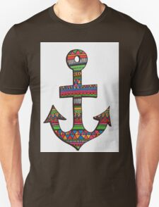 Bright Aztec Anchor Unisex T-Shirt