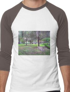 Feel the energy of plants, the bushes and the trees. Let yourself be surrounded by nature at it's best. Feel peace within and let the magic do the rest. Men's Baseball ¾ T-Shirt