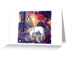 The last Unicorn Greeting Card