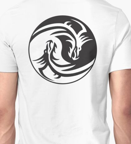 Dragon, Yin Yang, Doctormo, Dring, Drang, Eastern, Unisex T-Shirt