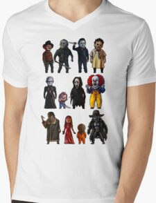 Icons of Horror Mens V-Neck T-Shirt