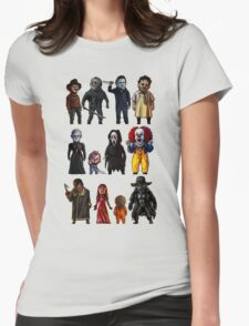 Icons of Horror Womens Fitted T-Shirt