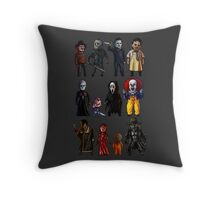 Icons of Horror Throw Pillow