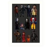 Icons of Horror Art Print