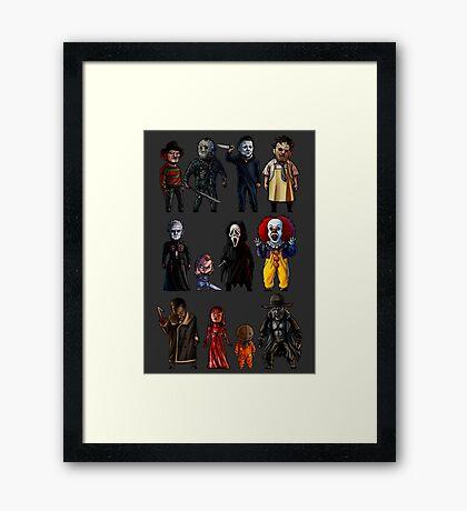 Icons of Horror Framed Print