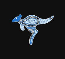 Aboriginal Art Kangaroo - Authentic Designs Unisex T-Shirt