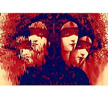 Sisters Red Photographic Print