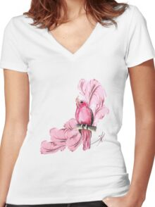 Glamour Women's Fitted V-Neck T-Shirt