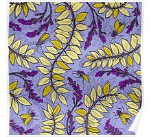 Sandelholz flower pattern Poster