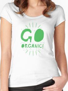 GO ORGANIC@ Women's Fitted Scoop T-Shirt