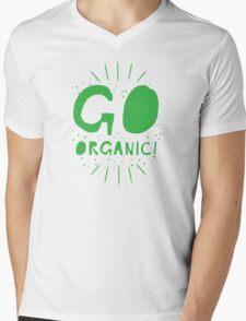 GO ORGANIC@ Mens V-Neck T-Shirt