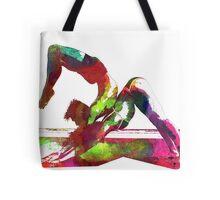 Couple yoga watercolour art Tote Bag