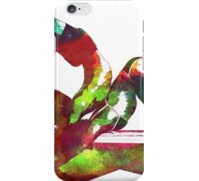 Couple yoga watercolour art iPhone Case/Skin