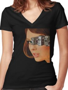 I'm Watching You! Women's Fitted V-Neck T-Shirt
