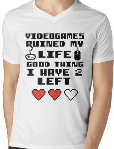 Videogames ruined my life Mens V-Neck T-Shirt