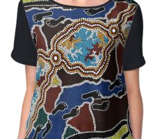 Walking the Land - Authentic Aboriginal Arts Chiffon Top