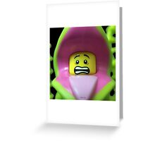 Lego Plant Monster minifigure Greeting Card