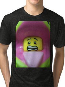Lego Plant Monster minifigure Tri-blend T-Shirt