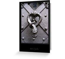 Door knocker Greeting Card