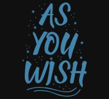 As you wish FROZEN (blue hipster magic quote) One Piece - Short Sleeve