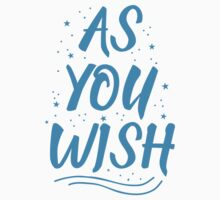 As you wish FROZEN (blue hipster magic quote) Kids Tee