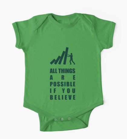 All Things Are Possible If You Believe - Corporate Start-Up Quotes One Piece - Short Sleeve