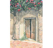 Old Doorway with Bougainvillea Photographic Print