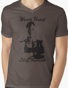 Work Hard, Stay Humble (Holly Holm) Mens V-Neck T-Shirt