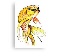 Fish with moustache Canvas Print