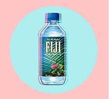 Fiji Water vaporwave  Photographic Print