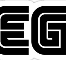 Black Sega Logo Sticker
