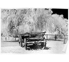 Old Cart - Infrared Poster