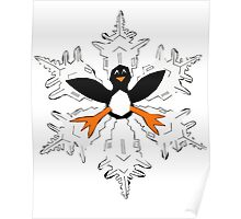 Penguin snow flake Poster