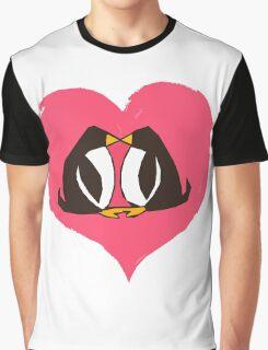 Kissing Penguins Graphic T-Shirt