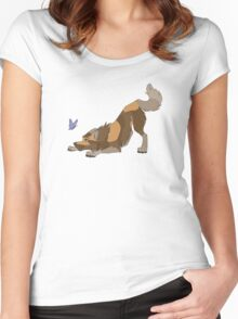 Espresso The Wolf Women's Fitted Scoop T-Shirt