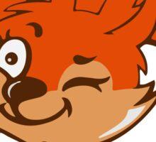 Little red squirrel Sticker