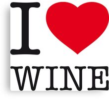 I ♥ WINE Canvas Print