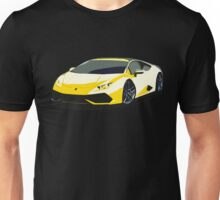 Lamborghini illustration yellow Unisex T-Shirt