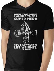 I Just Want To Lift Weights (Kai Greene) Mens V-Neck T-Shirt